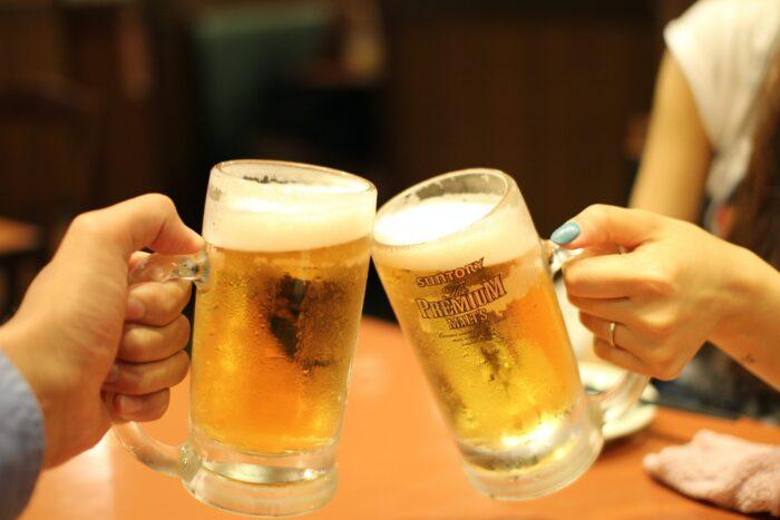 ビール乾杯